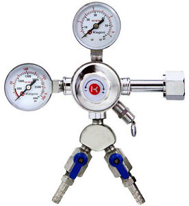 Kegco 542 2 Dual Product Pro Series Double Gauge Co2 Kegerator Beer Regulator