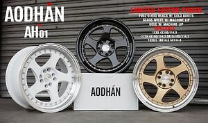 Aodhan Ah01 17x9 25 4x100 White Rim Fit Mini Cooper Jcw Civic Si Integra Jetta