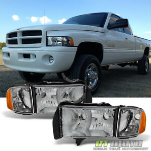 Chrome 1999 2000 2001 Dodge Ram 1500 Pickup Sport Headlights W Corner Lights