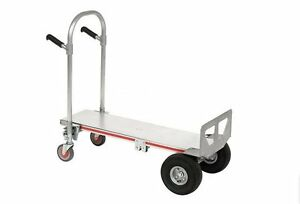 Dolly Hand Truck Convertible To Platform Aluminum 500 Lb Capacity 51h M P