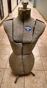 Vintage Antique Adjustable Dress Form W Stand Acme L m Size A Brooklyn Ny
