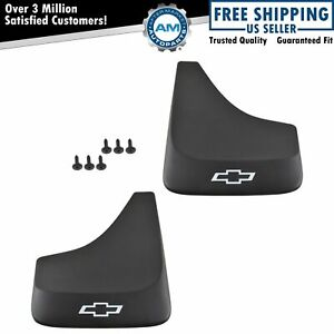 Oem 19213385 Splash Guard Mud Flap Black Bowtie Front Or Rear Pair Set For Chevy