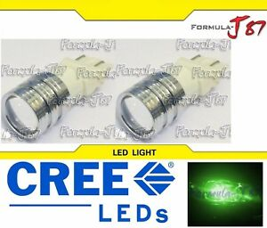 Led Light 5w 4114 Green Two Bulbs Drl Daytime Running Replacement Show Use Jdm