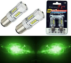 Led Light 80w Bay15d 1157 Green Two Bulbs Turn Signal Parking Drive Side