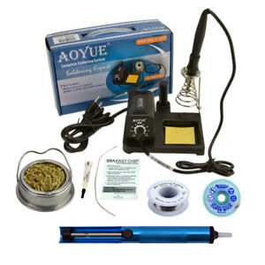Aoyue 469 Kit Includes 60 Watt Soldering Station Solder Wire Flux And Much Mo