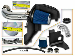 Bcp Blue 2011 2014 Ford Mustang Gt 5 0 V8 Heat Shield Air Intake Kit