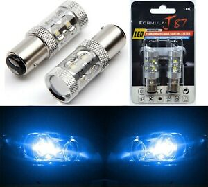 Cree Led Light 50w Bay15d 1157 Blue 10000k Two Bulbs Signal Parking Side Marker