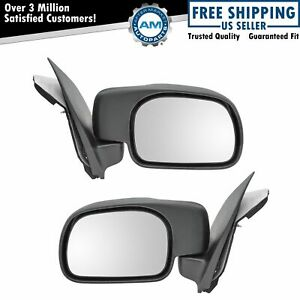 Manual Side Mirrors Pair Set Of 2 Left Right For Ford Super Pickup Truck Duty
