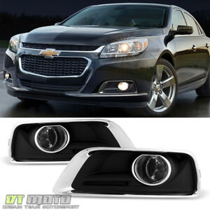 Fits 2013 2015 Chevy Malibu Fog Lights Driving Bumper Lamps W Switch Bulbs Cover