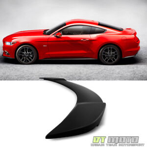 2015 2017 Ford Mustang Gt Factory Style Black Rear Trunk Abs Spoiler Unpainted