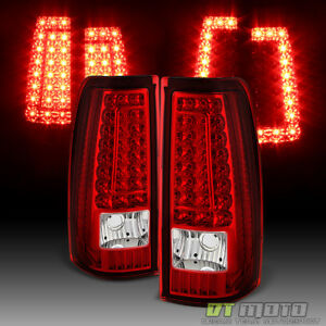 1999 2002 Chevy Silverado 1500 99 06 Gmc Sierra Red Led Tail Lights Brake Lamps
