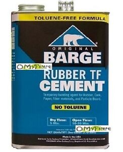 Barge Rubber Tf Cement Glue Adhesive 1 Gallon Temporary Bonding