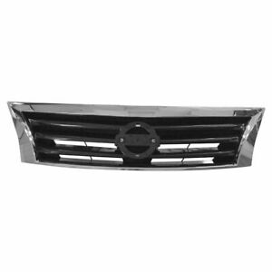 Oem 62310 3ta0a Grille Without Emblem Chrome Black For Nissan Altima Sedan New