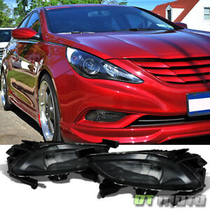 Left Right For 2011 2013 Sonata Driving Bumper Smoked Fog Lights W Switch Bulbs