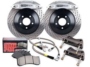 Stoptech Touring Bbk Big Brake Kit front silver 4 Pistons drilled 355mm Rotors