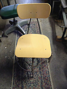 Vintage Toledo Drafting Student Sns Industrial Mid Century Chair Stool