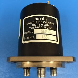 Narda Sem133 Rf Coaxial Switch Dc 18 Ghz
