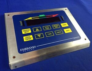 Fairbanks Scales Stainless Steel Face Plate W Membrane Keypad control