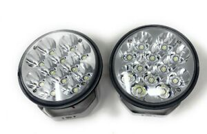 2 6 Off Road 5 75 Clear Led 36w Flood Universal Driving Lamps Fog Lights Set