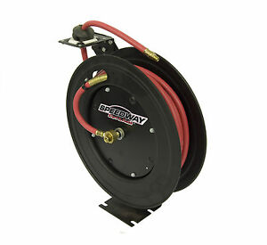 Speedway Retractable Air Hose Reel With 3 8 Inch By 50 Ft Hose Mpn model 7640