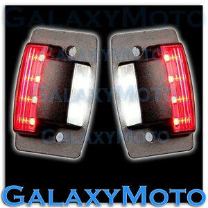 Dodge 94 02 Ram 1500 2500 3500 White Led License Plate rear Red Led Brake Light