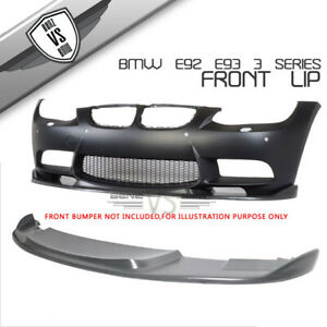 Fit For 07 10 Bmw E92 E93 3 Series H Style Front Bumper Lip Aftermarket M Bumper