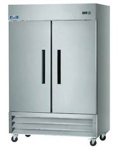 Arctic Air Af49 49cf 2 Door Stainless Steel Commercial Reach in Freezer New