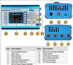 Fy2302mhz Arbitrary Waveform Dual Channel Dds Function Signal Generator Sweep