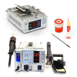 Electronics Repair Set Aoyue 2702a Soldering Station Aoyue 853a Preheater Flux