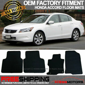 Fit 08 12 Accord Oe Factory Fitment Floor Mats Carpet Front Rear Nylon Black