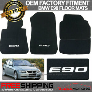 Fits Custom Logo 05 11 Bmw E90 3 Series Oe Fitment Floor Mats Carpet Front Rear