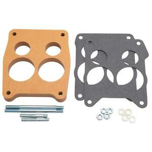 Edelbrock 8726 4 Barrel Carburetor Spacer Wood 0 750 Inch