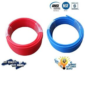 2 Rolls Of 1 2 X 100 Pex Tubing Red Blue For Water Supply W 25 Years Warranty