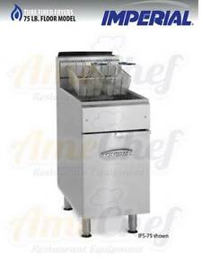 Imperial Commercial Gas Deep Fryer 75 Lbs 2 Baskets Model Ifs 75
