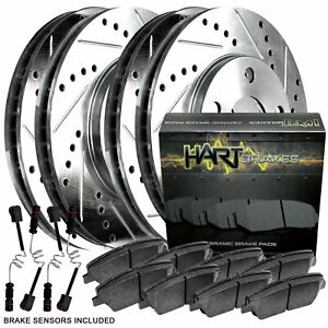 Full Kit Platinum Hart Drilled Slot Brake Rotors And Ceramic Pad Phcc 3507302
