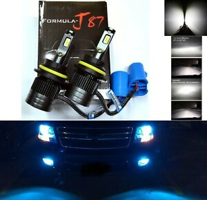 Led Kit G5 80w 9007 Hb5 10000k Blue Head Light Two Bulbs High Low Beam Lamp Fit