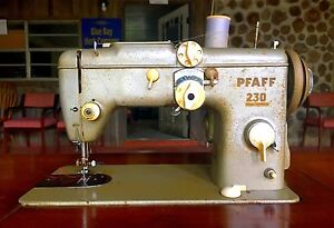 Antique Pfaff 230 Sewing Machine With Built In Sewing Table Made In Germany