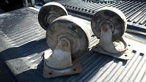 3 Good Heavy Duty Bassick Industrial 6 Wheels Spin 1 Swivel Rubber Casters