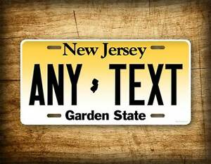 Personalized New Jersey License Plate Custom State Auto Tag 6x12 Nj Garden State