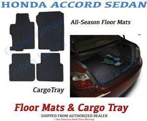 Oem Honda Accord Sedan 4dr All Season Floor Mat Cargo Tray 2013 2017 T2a