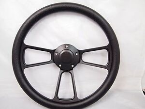 Club Car Precedent Black Steering Wheel Golf Cart With Adapter 3 Spoke
