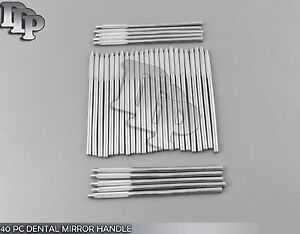 40 Pc Dental Mirror Handle Stainless Steel New Brand
