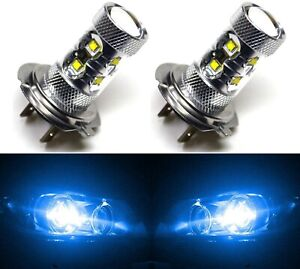 Led 50w H7 Blue 10000k Two Bulbs Head Light Low Beam Replace Show Off Road