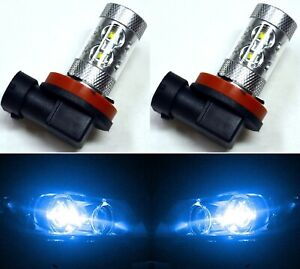 Cree Led 50w H9 Blue 10000k Two Bulbs Head Light High Beam Replacement Show Use