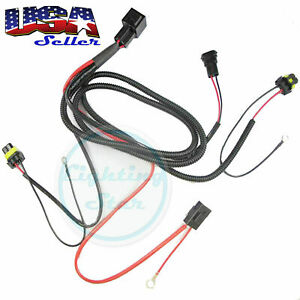 Xenon Hid Conversion Kit Relay Wiring Harness 9005 9006 9145 Hb3 Hb4 35w Or 55w