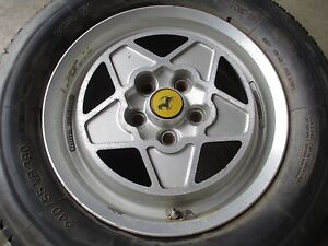 Ferrari Mondial Wheel Rim Cromodora And Tire 180 Trx 390 Part 118147