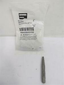 Irwin 52404 Spiral Flute Screw Extractor 1 4 5 Each