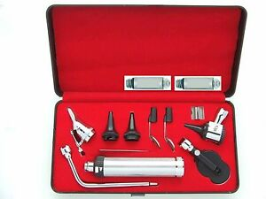 Professional Veterinary Vet Pet Otoscope Kit With Specula In Plastic Box