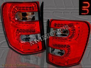 99 04 Jeep Grand Cherokee Tail Lights Led Red Smoke 01 02 03