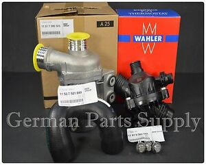 Bmw Genuine Electric Water Pump Hose 3 Bolt Kit Wahler Thermostat Assembly